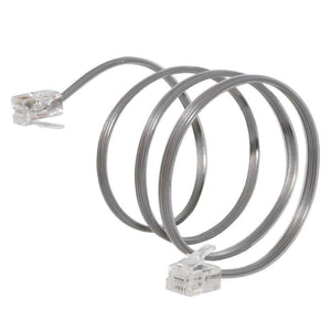 GE High Quality Durable Telephone Accessory Line Cord 2 Ft. - Satin - fommystore