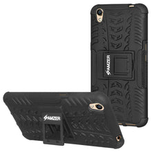 Load image into Gallery viewer, AMZER Shockproof Warrior Hybrid Case for Oppo A37 - Black/Black - fommystore