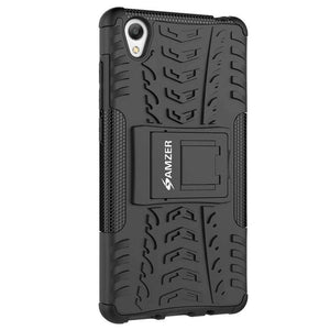 AMZER Shockproof Warrior Hybrid Case for Vivo Y51 - Black/Black - fommystore