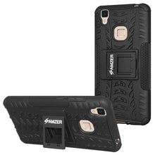 Load image into Gallery viewer, AMZER Shockproof Warrior Hybrid Case for Vivo V3 - Black/Black - fommystore