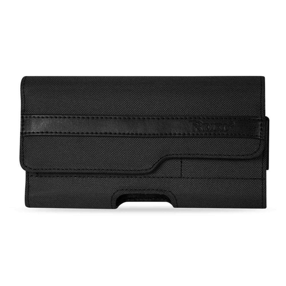 Horizontal Rugged Pouch With Belt Loop & 2 Card Pocket - Black - fommystore