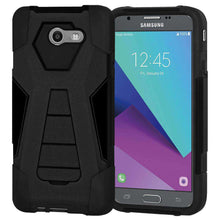 Load image into Gallery viewer, AMZER Dual Layer Hybrid KickStand Case for Samsung Galaxy Halo - Black/Black - fommystore