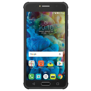 AMZER Shockproof Warrior Hybrid Case for Alcatel Pop 4s - Black/Black - fommystore