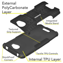 Load image into Gallery viewer, AMZER Shockproof Warrior Hybrid Case for Alcatel Pop 4s - Black/Black - fommystore
