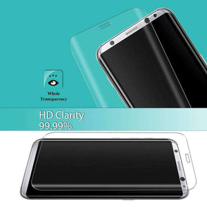 9H Edge2Edge Curved 3D Tempered Glass Protector for Samsung Galaxy S8 - Clear - fommystore