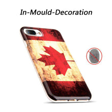 Load image into Gallery viewer, Patriotic Vintage Flag Series IMD Soft TPU Protective Case for iPhone 7 Plus - Canada Flag - fommystore