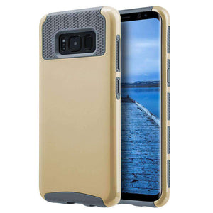 Hybrid Glossimer UV Coating Protective Case - Gold for Samsung Galaxy S8 for Samsung Galaxy S8 - fommystore