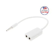 Load image into Gallery viewer, 3.5mm Male to Dual 3.5mm Female Audio Splitter Cable - White - fommystore
