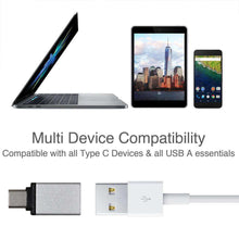 Load image into Gallery viewer, USB Type C to USB Type A Adapter - Silver - fommystore