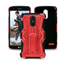 Load image into Gallery viewer, Heavy Duty Shockproof Extreme Protective Cover With Holster - Black/ Red for LG Stylus 3/ LG Stylo 3 for LG K10 Pro LGM400DF - fommystore