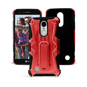 Heavy Duty Shockproof Extreme Protective Cover With Holster - Black/ Red for LG LV3/ LG K8 2017/ LG Aristo MS210 for LG Aristo MS210 - fommystore