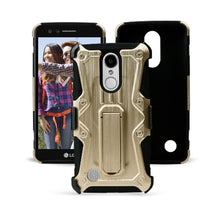 Load image into Gallery viewer, Heavy Duty Shockproof Extreme Protective Cover With Holster - Black/ Gold for LG LV3/ LG K8 2017/ LG Aristo MS210 for LG Aristo MS210 - fommystore