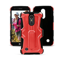Load image into Gallery viewer, Heavy Duty Shockproof Extreme Protective Cover With Holster - Black/ Red for LG Harmony M257 - fommystore