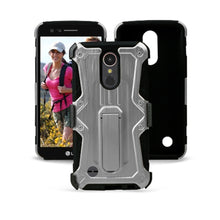 Load image into Gallery viewer, Heavy Duty Shockproof Extreme Protective Cover With Holster - Black/ Silver for LG Harmony M257 - fommystore
