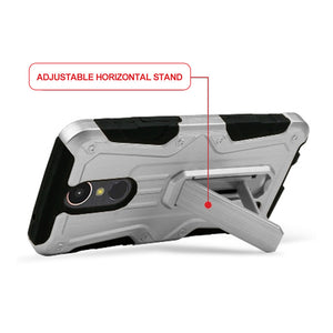 Heavy Duty Shockproof Extreme Protective Cover With Holster - Black/ Silver for LG Harmony M257 - fommystore