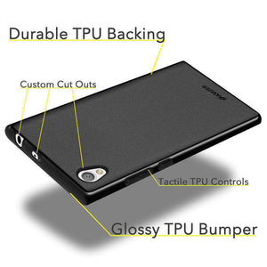 AMZER Pudding Soft TPU Skin Case for Sony Xperia L1 - Black - fommystore