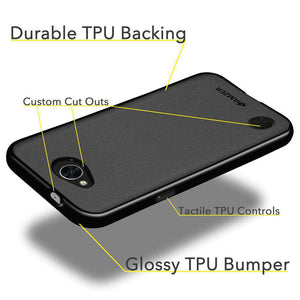 AMZER Pudding Soft TPU Skin Case for LG K10 POWER - Black - fommystore