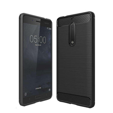 AMZER Shockprof Pudding TPU Skin Case for Nokia 5 - Black - fommystore
