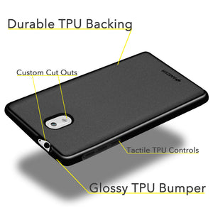 AMZER Pudding Soft TPU Skin Case for Nokia 3 - Black - fommystore
