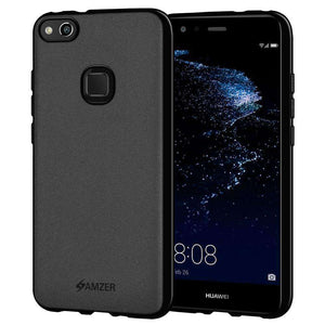AMZER Pudding Soft TPU Skin Case for Huawei P10 Lite - Black - fommystore