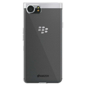AMZER Pudding Soft TPU Skin Case for BlackBerry KEYone - Cloudy Clear - fommystore