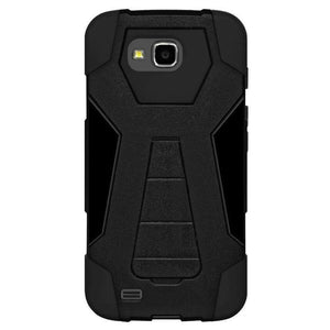 AMZER Dual Layer Hybrid KickStand Case for LG V9 - Black/Black - fommystore