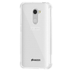 AMZER Pudding TPU Soft Skin X Protection Case - Crystal Clear for Alcatel A3 - fommystore