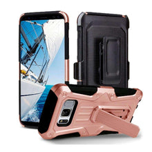 Load image into Gallery viewer, Heavy Duty Shockproof Extreme Protective Cover With Holster - Black/ Rose Gold for Samsung Galaxy S8 Plus for Samsung Galaxy S8 Plus - fommystore