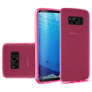 Crystal Transparent TPU Case - Hot Pink for Samsung Galaxy S8 - fommystore