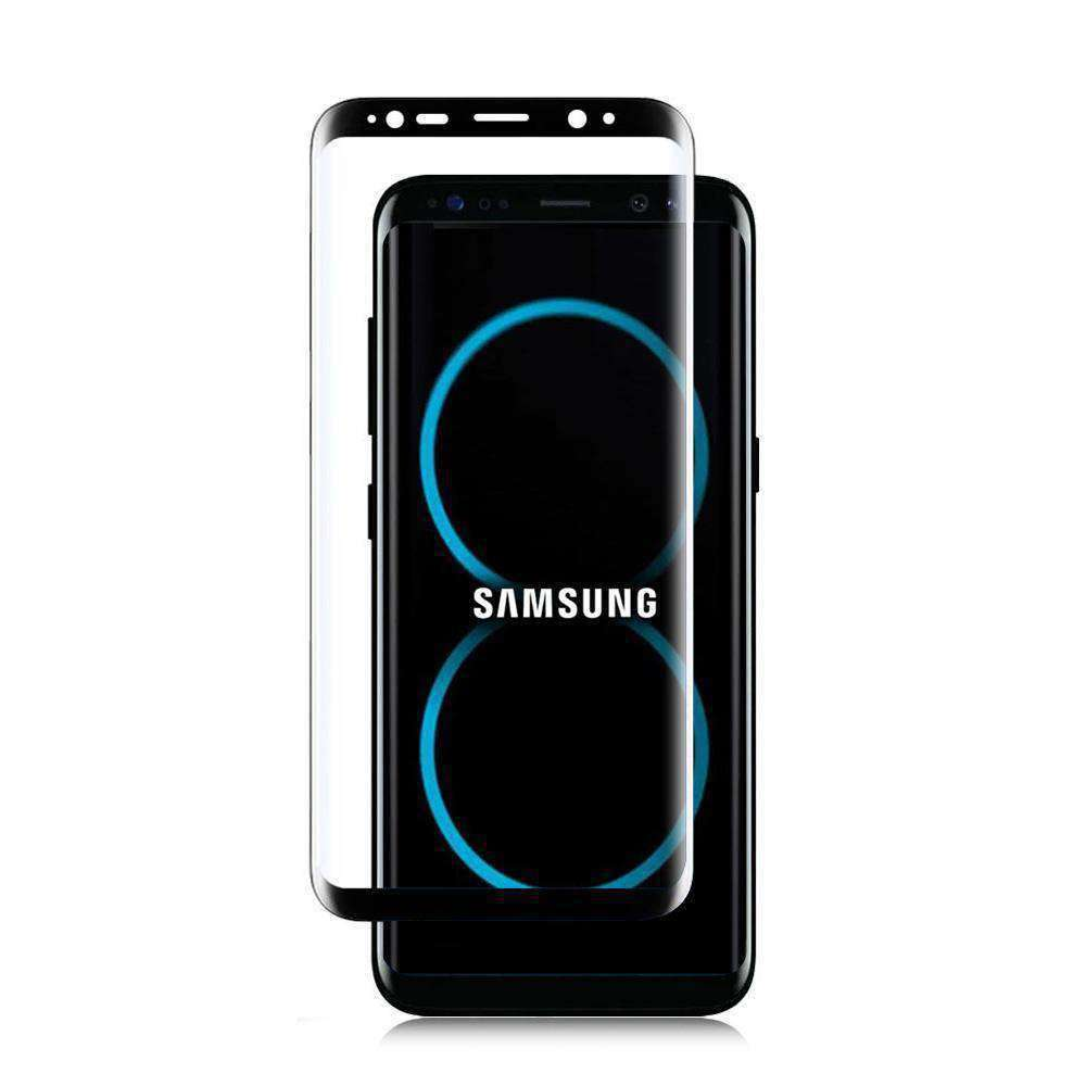 Full Body 3D Curved Tempered Glass Screen Protector(0.33mm) - Black for Samsung Galaxy S8 - fommystore