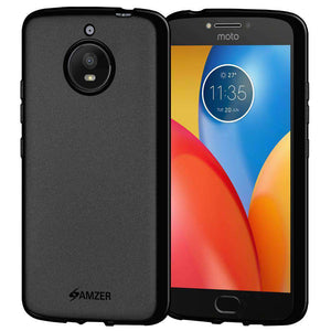 AMZER Pudding Soft TPU Skin Case for Motorola Moto E4 Plus - Black - fommystore