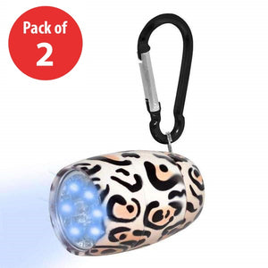 Fashion Print LED Tank Light with Carabiner Clip - (Pack of 2) - fommystore