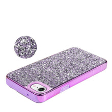 Load image into Gallery viewer, Rhinestone Diamond Platinum Collection Hybrid Bumper Case for  iPhone 7, iPhone SE 2020