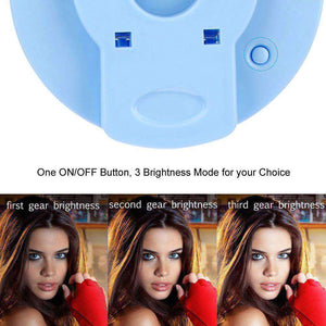Rechargeable Selfie LED Camera Ring Light with 3 Adjustable Brightness Level - Blue - fommystore