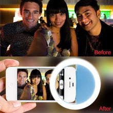 Load image into Gallery viewer, Rechargeable Selfie LED Camera Ring Light with 3 Adjustable Brightness Level - Blue - fommystore