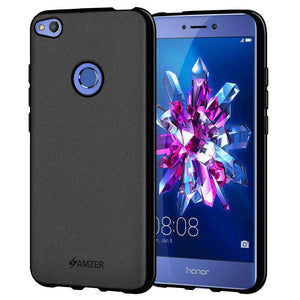 AMZER Pudding Soft TPU Skin Case for Huawei Honor 8 Lite - Black - fommystore