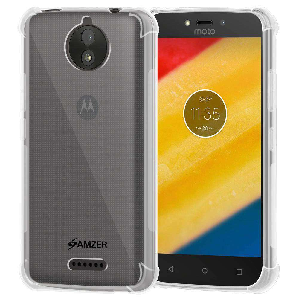 AMZER Pudding TPU Soft Skin X Protection Case for Motorola Moto C Plus - Clear - fommystore