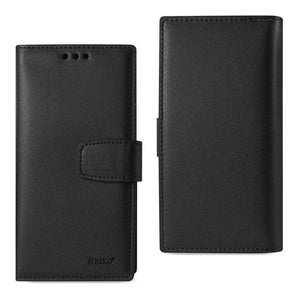 Reiko® Handcrafted Genuine Leather RFID Credit Card Holder Wallet Case - Black for iPhone 6 Plus - fommystore