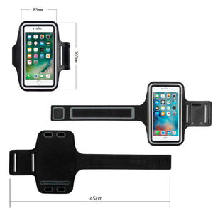 Universal Ultra Slim Adjustable Sports Armband Workout Case With Key Holder