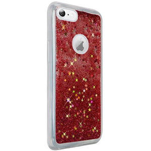 Hybrid Quicksand with Glitter Fused Flexible TPU Case - Rose Pink for iPhone 6 Plus/ 6s Plus for iPhone 6 Plus - fommystore