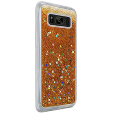 Load image into Gallery viewer, Hybrid Quicksand with Glitter Fused Flexible TPU Case - Gold for Samsung Galaxy S8 Plus SM-G955U for Samsung Galaxy S8 Plus - fommystore