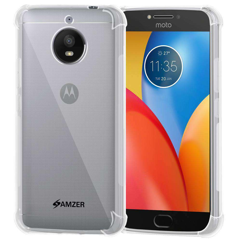 AMZER Pudding TPU Soft Skin X Protection Case for Motorola Moto E4 Plus - Clear - fommystore