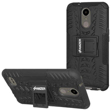 Load image into Gallery viewer, AMZER Shockproof Warrior Hybrid Case for LG K10 2017/Harmony M257 - Black/Black - fommystore