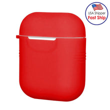 Load image into Gallery viewer, Silicone Skin Jelly red Case With Airpod Strap