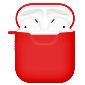 Silicone Skin red Jelly Case With Airpod Strap