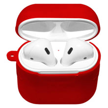 Load image into Gallery viewer, Silicone Skin red Jelly Case With Airpod Strap