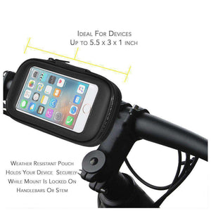 Weather Resistant 360° Rotable Bike Bicycle Handlebar Mount - Black - fommystore