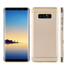Load image into Gallery viewer, Rubberized Protective Griptech 3-Piece Case with Chrome Frame - Gold for Samsung Galaxy Note8 SM-N950U - fommystore