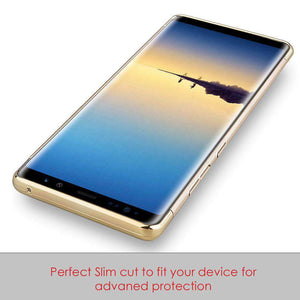 Rubberized Protective Griptech 3-Piece Case with Chrome Frame - Gold for Samsung Galaxy Note8 SM-N950U - fommystore