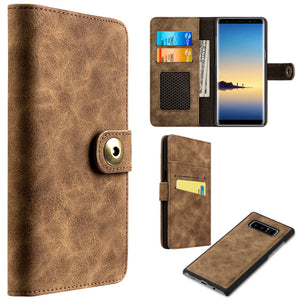 Flip Wallet With Card Slot and Detachable Back Case for Galaxy Note8 - fommystore